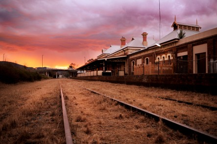 A photo of the Mudgee Railway Station, Mudgee. Photo by Amber Hooper