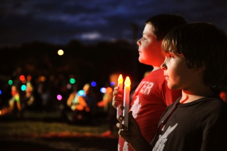 A photo taken at Carols by Candlelight at the Mudgee Showground. Photo by Amber Hooper.