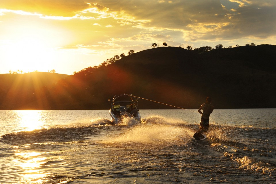 Wakeboarding at Windamere dam, Mudgee. Photo by Amber Hooper.