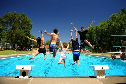 A photo taken at the Mudgee Town Pool. Photo by Amber Hooper.